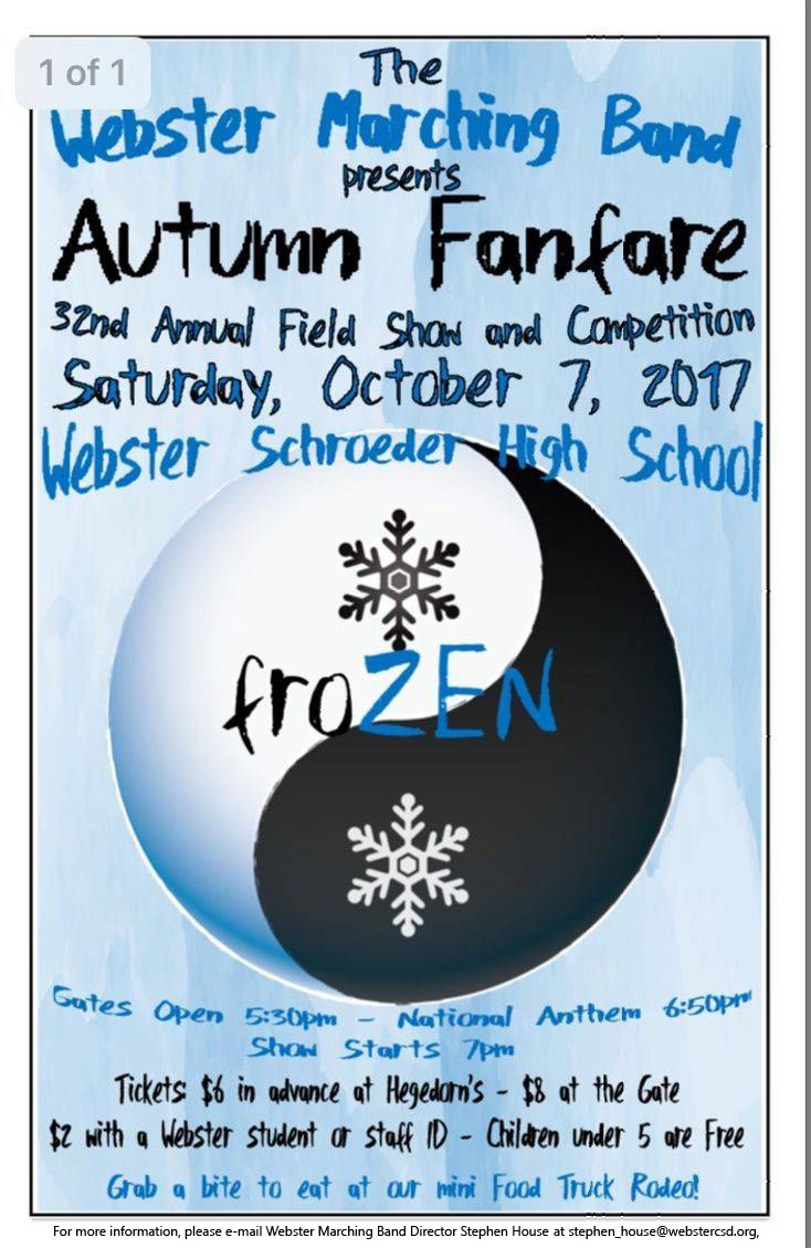 Webster Marching Band welcomes autumn with music | webster