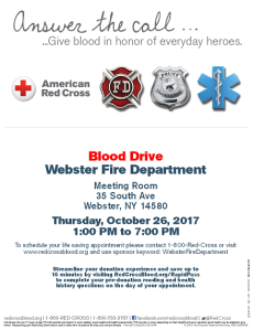 webster FD blood drive