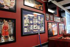 The new Filling Station is staying with the sports theme, and the photos are already up on the walls.