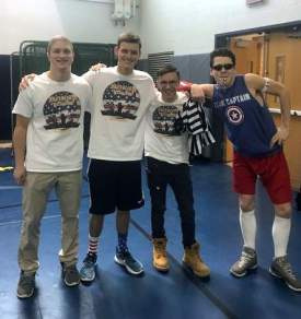 Tournament organizers Matt Hill, Ben Kazimer, David Tomer and Will Johnson