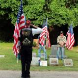A Patriot Guard rider showing his respect