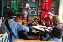 Christmas music at Barry's