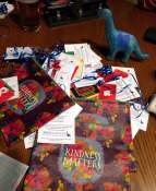 Some of the $200 in gift cards we distributed