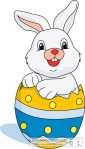 easter rabbit in egg clipart