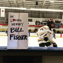 Dylan LaChance skates past the luminary in tribute to his grandfather