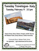 Feb. 11 travelogue flyer