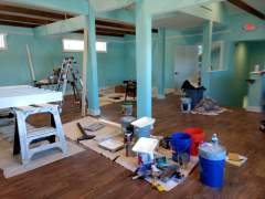 It doesn;t look like much now, but this is going to be LaLa's new clothing boutique